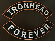 Ironhead Forever Patch Banner XL Set je 33x6 cm Old School Biker Kutte MC Harley