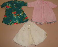 VINTAGE 1970s Doll CLOTHES - White cape pink coat overcoat green flowers pajamas