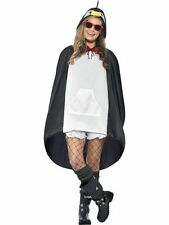 Ladies Teens Penguin Poncho Waterproof Festival Concert Hen Party Costume Fun