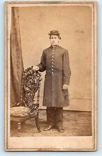 Antique 59th NY INF Frock Coat CIVIL WAR Union Soldier CDV Photo / GETTYSBURG