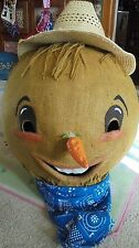 Vintage handmade oversize farm Scarecrow mask for Parade Float Halloween costume