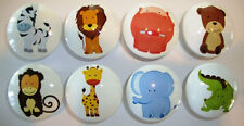 8 Cute Baby Zoo Animal Wooden Dresser Baby Bedding Cordinate Drawer Knobs Pulls