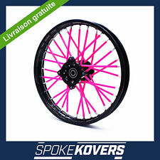 COUVRE RAYONS ROSE MOTOCROSS MX ENDURO ROUE JANTE SPOKE COVERS SKINS PIT