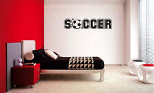 SOCCER DECAL WALL VINYL DECOR STICKER ROOM SPORTS SOCCER Decal Kids Room