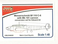 OWL 1/48 Messerschmitt bf-110c-6 con Set di conversione mk.101 senza Decalcomanie # r48