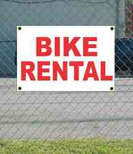 2x3 BIKE RENTAL Red & White Banner Sign NEW Discount Size & Price FREE SHIP