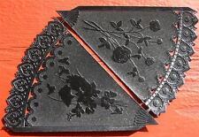 German Dresden Paper Black Cones Die Cut Halloween