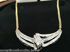 ETERNITY NATURAL ETERNITY DIAMOND NECKLACE ANGEL WINGS  18 INCH + GIFT!