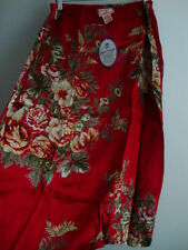 April Cornell Red Skirt New L Large Vintage Romantic Floral Patchwork A-line VTG