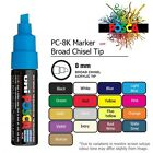 UNI POSCA PC-8K markers - DIFFERENT COLOURS 8.0mm Broad Chisel Tip