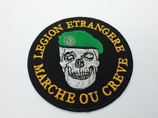 FRENCH FOREIGN LEGION ETRANGERE SKULL MARCH OR DIE CLOTH PATCH