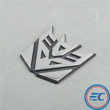 "PVC Chrome TRANSFORMERS ""Decepticon"" Sticker Car Moto Decoration 3D Emblem Decal"