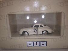 Bub Toys Premium ClassiXXs (Germany) White Porsche 356B Coupe Racing 1:87 NIB
