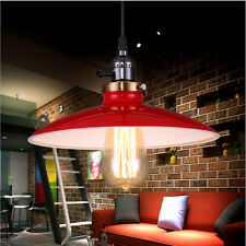 Pendant Bar Lamp Retro Red Iron Metal Shade Ceiling Vintage Chandelier Light