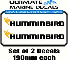 Humminbird Fishing Boat Tacklebox Sticker Decal Set, 190 x 25mm each