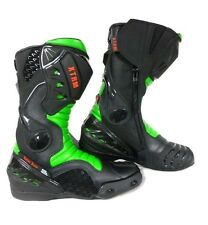 XTRM CORE MOTORBIKE MOTORCYCLE RACING SPORTS ARMOUR BOOTS ALL GREEN SIZE UK 7