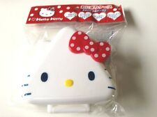 Hello Kitty,Bento,Plastic Onigiri case, lunch box,Red,White,Sanrio,Free Shipping