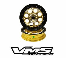 "x2 15X3.5"" VMS RACING REVOLVER GOLD REAR DRAG WHEELS SKINNIES FOR ACURA INTEGRA"