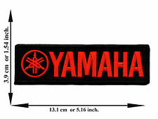 Black + Red Yamaha Biker Rider Motorcycle Racing Logo Applique Iron on Patch