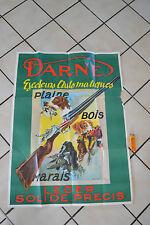 Grande affiche ancienne DARNE Fusils avec Éjecteurs Automatiques  Signée LAMOTTE