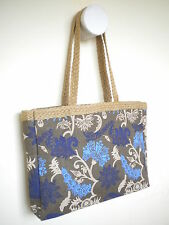 Designer Ladies Handbag High Quality Pure JUTE Bag Shopping Beach Ecofriendly