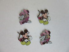 4 X MINNIE MICKEY MOUSE ENAMEL PENDANTS