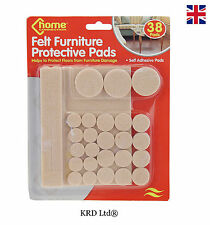 38 Pack x FURNITURE PROTECTOR PADS Self Adhesive Felt Floor Scratch Protectors