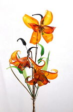 Valentines Gift For Wife Girlfriend Romantic Decoration Orange Glass Flower Hot