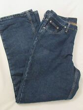 """Ladies """"As Real As Wrangler"""" Size 16x32, Dk Blue,Relxd Fit,Str. Leg,Lined Jeans"""