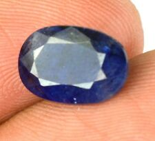 4.10 Ct Perfect Looking Natural Oval Certified Blue Sapphire Loose Gemstone