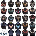 Fashion Women Charm Jewelry Crystal Pendant Choker Statement Chunky Bib Necklace