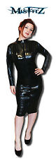 Misfitz black pvc zip pencil wiggle mistress dress, size 22 goth tv