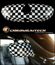 SM Chequered Flag Auto Dim Rear View Mirror Cover MK3 MINI Cooper/S/ONE F55 F56