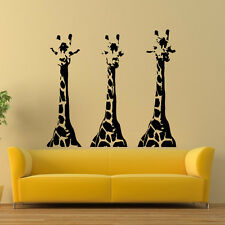 Wall Vinyl Decals Giraffe Animals Jungle Safari Decal Sticker Art Mural Z668
