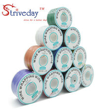 10 roll 30AWG 2500m Electrical Wire single OK Line Airline Copper PCB Wire
