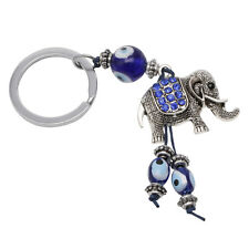 Men Rhinestone Crystal Elephant Metal Car Keyring Keychain Key Chain Ring Keyfob