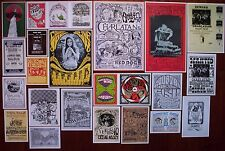 CHARLATANS Early Psychedelic COUNTRY JOE & FISH Rock Concert mini Posters SET