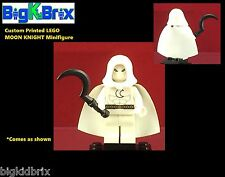 MOON KNIGHT Custom Printed LEGO Minifigure w/Custom Cape & Weapon NO DECALS