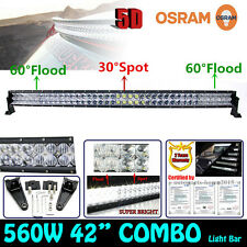 42INCH 5D 560W Osram LED Curved Combo Spot Flood Work Light Bar Offroad Driving