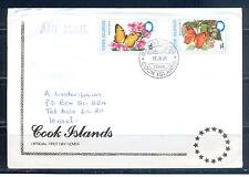 COOK ISLAND 1998, Butterflies, set of 2, FDC (39)