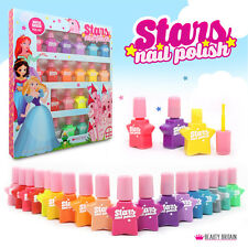 18 x Kids Children Nail Polish Set NonToxic Water Based Peel Off Plastic Bottles