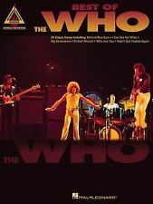 Best of the Who Guitar Tab (2000, Paperback) Hal Leonard USED LIBRARY BOOK