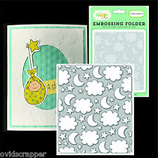 NIGHT SKY embossing folders CARTA BELLA embossing folder CBIB50031 stars,clouds