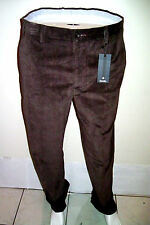 34 Waist Pants ZANELLA Luxury Corduroy Velvet  Winter  Trousers Made in Italy