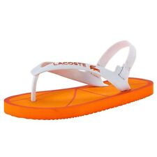 Lacoste Orange Nosara Flipflops BNWT UK6 EU23 Infant Baby Boys Girls s m RRP £18