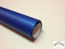 1.2m x 1.5m 3D Blue Carbon Fibre Vinyl Wrap Adhesive Decal Film (Bubble Free)