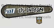 Vintage Minibike LIL Indian Chain Guard Decal and Fork Neck Decal Mini Bike