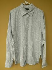 J.Crew Long Sleeve Blue Striped Men's Dress Shirt size XLT 17-17.5
