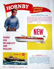 1963 HORNBY Speed Boats ADVERT Motor & RAF Safety Launch #2 - Original Print AD