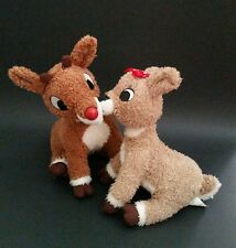 HALLMARK KISSING TALKING RUDOLPH THE RED NOSED REINDEER & CLARICE PLUSH TOY